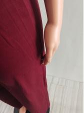 V Neck Cold Shoulder Solid Wide Leg Jumpsuit