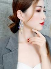 Chic Rhinestone Tassel Ear Cuff Earrings