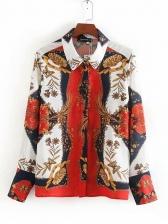 Ethnic Style Printed Ladies Blouse