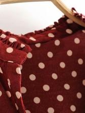 Vintage Dot Long Sleeve Dress
