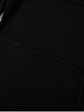 Vintage Square Neck Puff Sleeve Black Dress