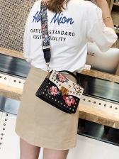 Embroidered Appliques Vintage Shoulder Bag