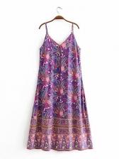 Floral Spaghetti Strap Sleeveless Maxi Dress