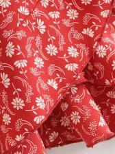Floral Tie Sleeve Ruffled Mini Dress