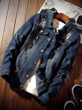 Hip Hop Ripped Denim Jackets
