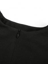 O Neck Zipper Cropped Long Sleeve Plain T Shirts