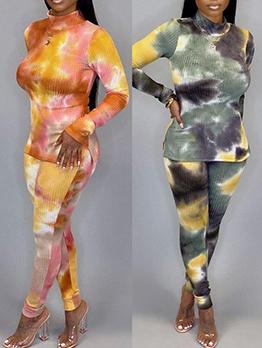 Hot Sale Tie Dye Two Piece Trouser Set