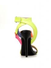 Multiple Bright Color Stiletto Heels Ladies Sandals