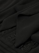 Tie Neck Long Sleeve Pleated Maxi Dress