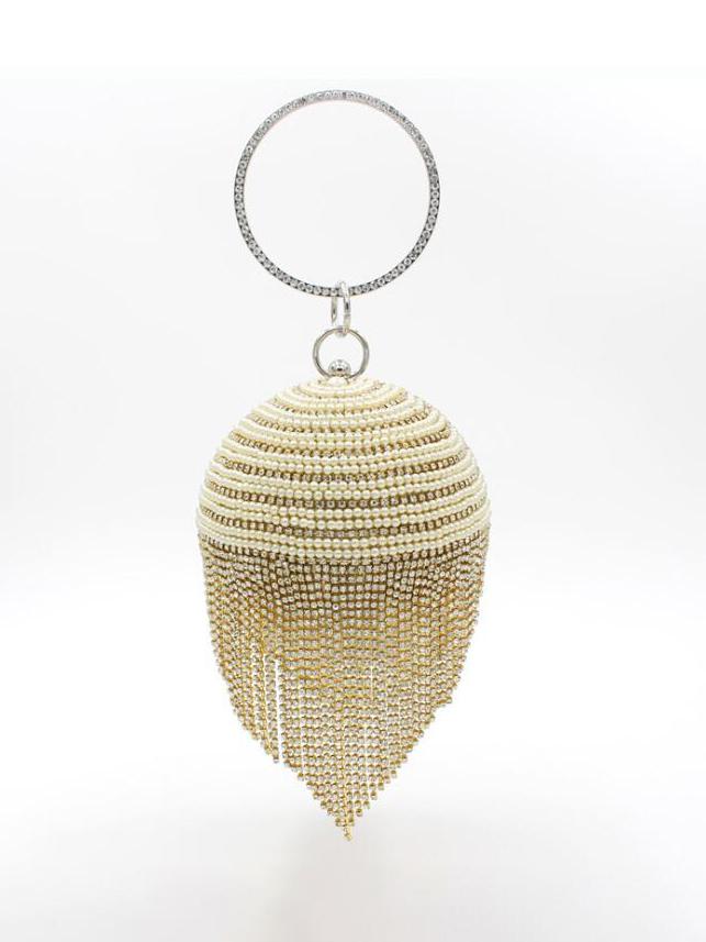 Glitter Rhinestone Round Handbags For Women