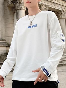 Casual Letter Print Crewneck Sweatshirt