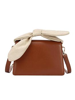 Bowknot Handle Design Women Square Shoulder Bag