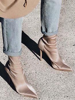 Elastic Sock-Liking Mid-Calf Boots