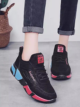 Solid Leisure Contrast Color Running Shoes