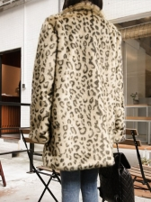 Fashion Leopard Loose Long Women's Winter Coats
