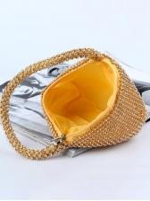 Shiny Rhinestone Irregular Shape Handbags For Party