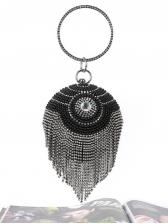 Rhinestone Tassel Sphere Handbags For Evening Party