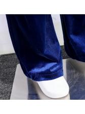 OL Style Solid Velvet Ladies Pant