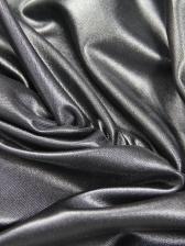 Inclined Shoulder Black Pu Sleeveless Mini Dress