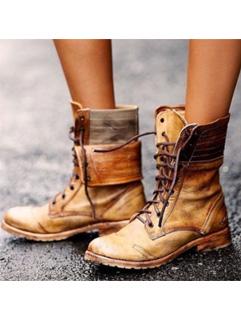 Vintage Lace Up Cowboy Boots