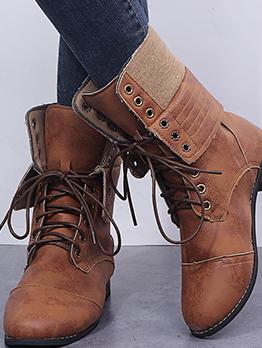 Vintage Cowboy Bandage Martin Boots