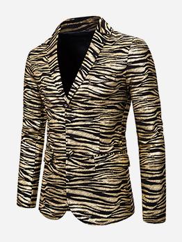 Animal Printed Slim Fit Men Outerwear