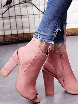 Solid Slingback Peep Toe Ladies Sandal Boots
