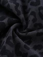 Perspective Black Leopard Print Bodysuit