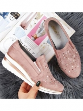 Rhinestone Slip On Wedges For Women