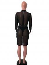 Sexy See Through With Underwear 2 Piece Dress