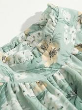 Elegant printed Ladies long sleeve dress
