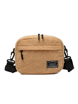 Multiple Zipper Adjustable Belt Plush Shoulder Bags