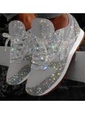 Glitter Rhinestone Casual Running Shoes