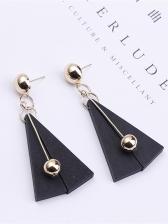 Elegant Geometry Small Metal Ball Long Earrings