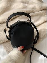 Contrast Color Adjustable Belt Bucket Bags With Handle