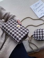 Spin Lock Houndstooth 2 Piece Chain Shoulder Bag