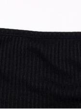Euro Off Shoulder Black Long Sleeve Sheath Dress