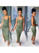 Sold Sleeveless Split Two Piece Dress