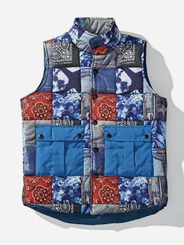 Contrast Color Pockets Male Waistcoat