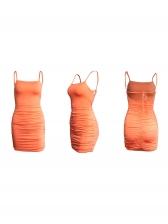sexy backless draped sleeveless sheath dress