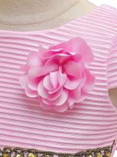 Large Hem Bow Decor Vintage Flower Girl Dresses