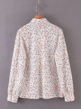 Multicolored Tiny Hearts Casual Long Sleeve Shirts