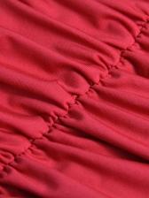 Backless Draped Sleeveless Sheath Dress