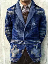 Contrast Color Printed Fashion Men Outerwear