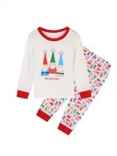 Christmas Santa Claus Printed Pajamas Family Set