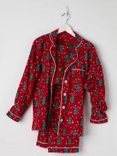 Christmas Tree Printing 2 Piece Cheap Family Pajama Sets