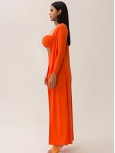 Strapless Cami Orange Three Piece Women Sets