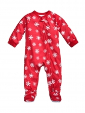 Stitching Color Snow Printing Family Christmas Pajama Sets