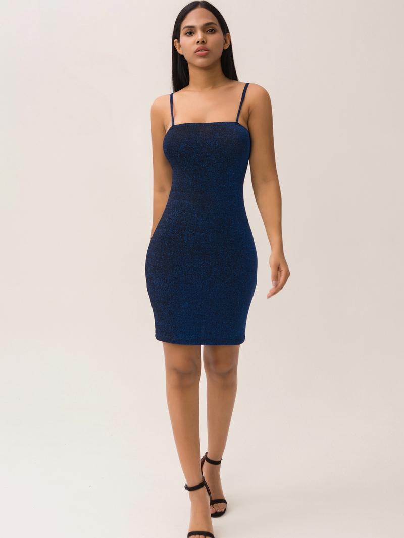 Hot Selling Glitter Sleeveless Bodycon Mini Dress