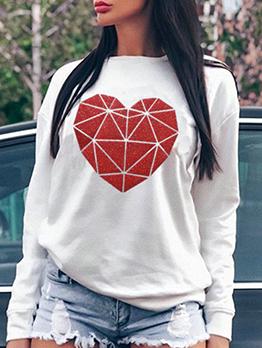 Love Printed Sweatshirts For Women